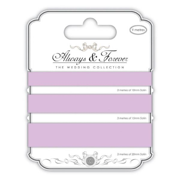 Always & Forever Satin Ribbons - Lilac